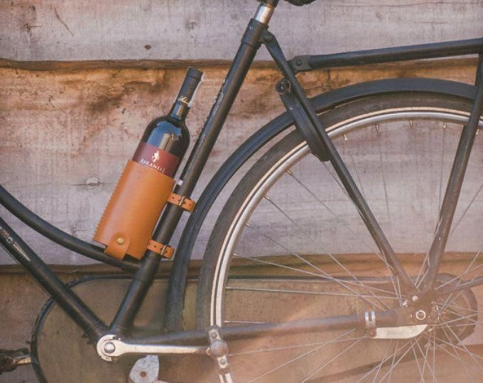 Bicycle Wine Rack Leather Bike Bottle Holder With Images