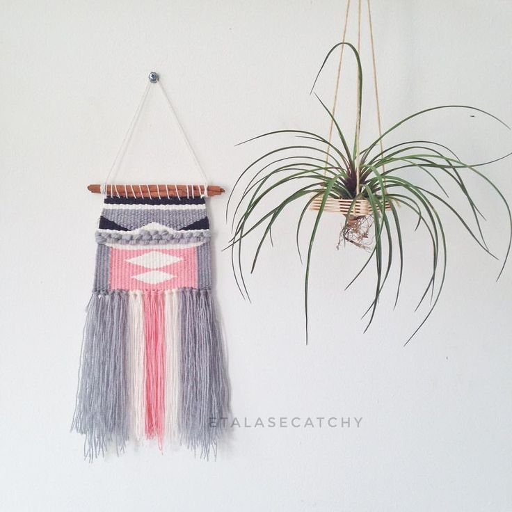 """35 Likes, 3 Comments - weaving • woven • macrame (@etalasecatchy) on Instagram: """"Weaving Woven Wall Hangings Size 15 cm x 33 cm READY STOCK 1 PCS PRICE & ORDER ??? 🌵0838-1110-9101…"""""""