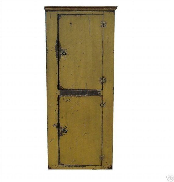 Primitive Painted Country Farmhouse Chimney Cupboard