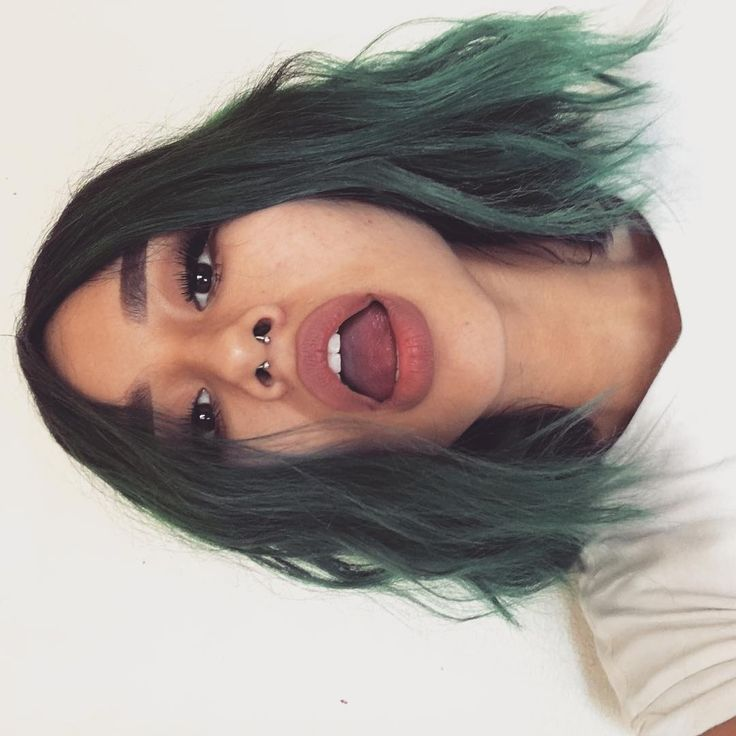 """11k Likes, 84 Comments - JAZMIN GONZALEZ (@jazminsus) on Instagram: """"good ol' days #greenhair #septum #acne EDIT: Why the fuck is everyone freaking out about my…"""""""