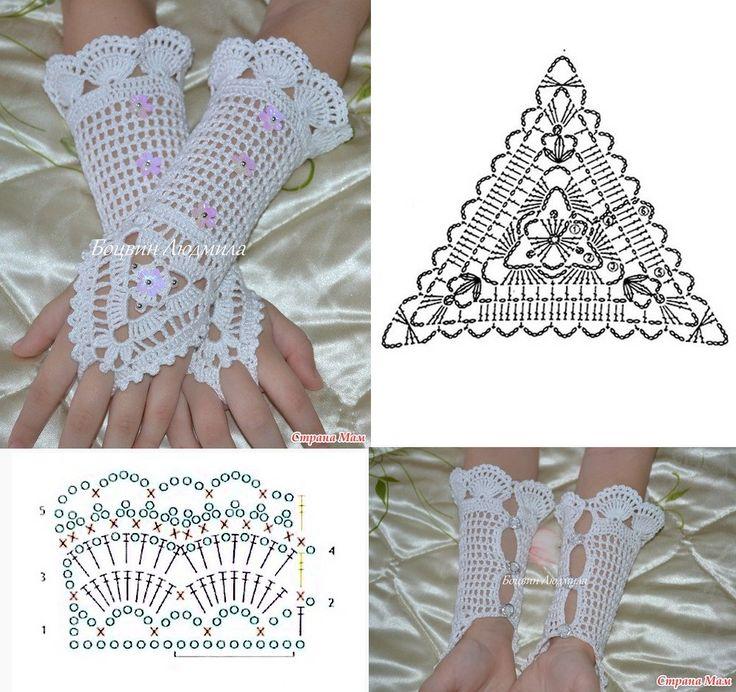 Crochet Lacy Mittens