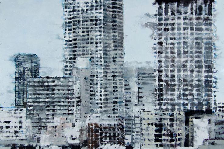 2 tours Tokyo Philippe Cognee Interesting encaustic painting techniques.