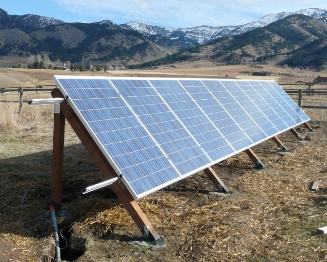 Solar Panels System Off The Grid