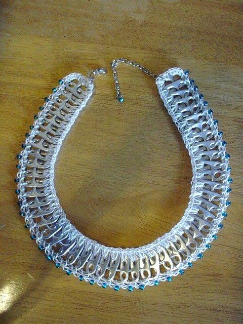 Perles de verre et tirez onglets collier par PopTopLady sur Etsy