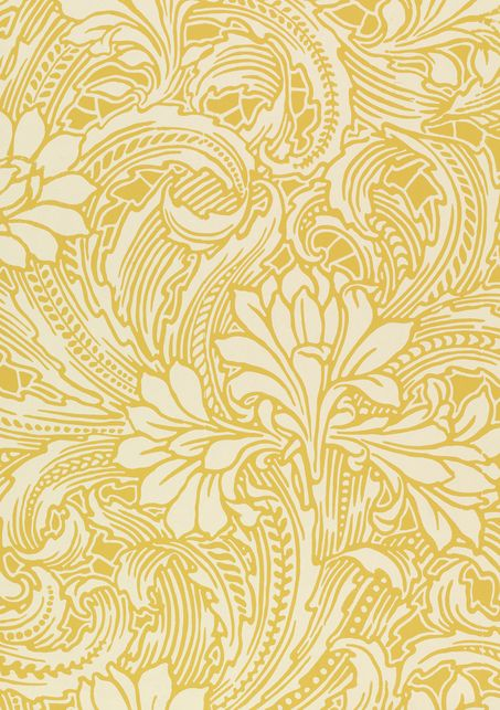 Cactus, wallpaper. Lewis Foreman Day/Jeffrey & Co. Color machine print on paper.UK. c. 1887-1900 (V&A: E.23097-1957). From V&A Pattern Series II: Garden Florals published by V&A Publishing and Abrams Books.