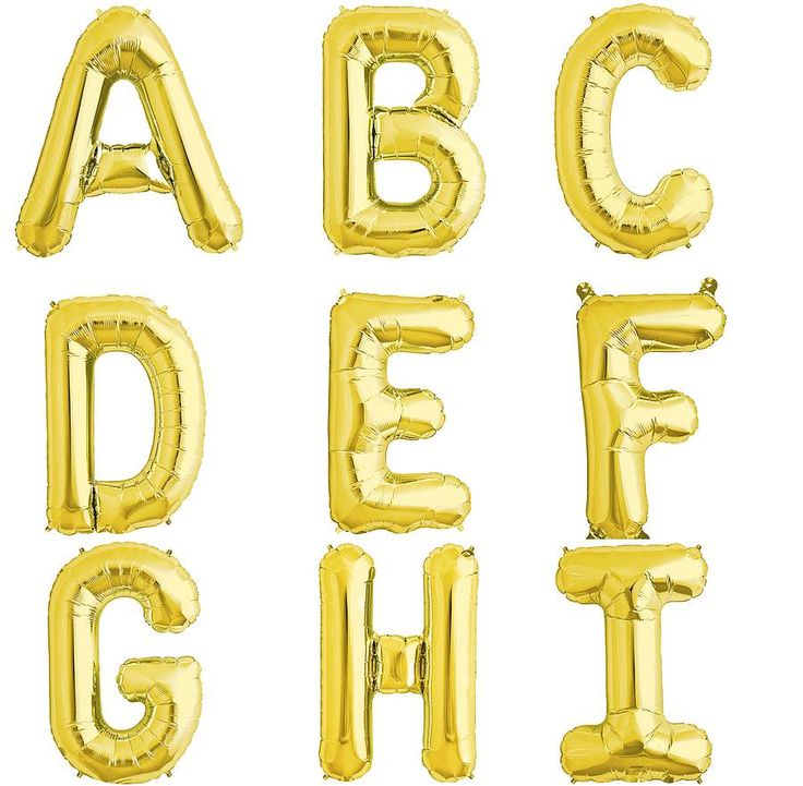 Balloon Letters 16 Inch In Four Colours from notonthehighstreet.com