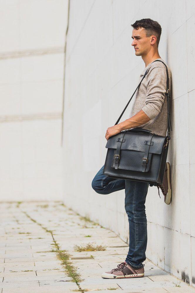 Messenger Bag, Black Leather Briefcase, Pilot Messenger, Laptop Messenger, Cross-body Bag, Rucksack Messenger, Unisex Leather Briefcase by BennyBeeLeather on Etsy https://www.etsy.com/listing/471065163/messenger-bag-black-leather-briefcase
