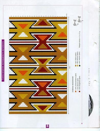 Motivos Wayuu bolsa de ganchillo