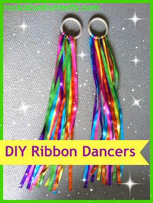 Rockabye Butterfly: Ribbon Dancers. paint the ends of the ribbons with clear nail polish to help prevent them from fraying