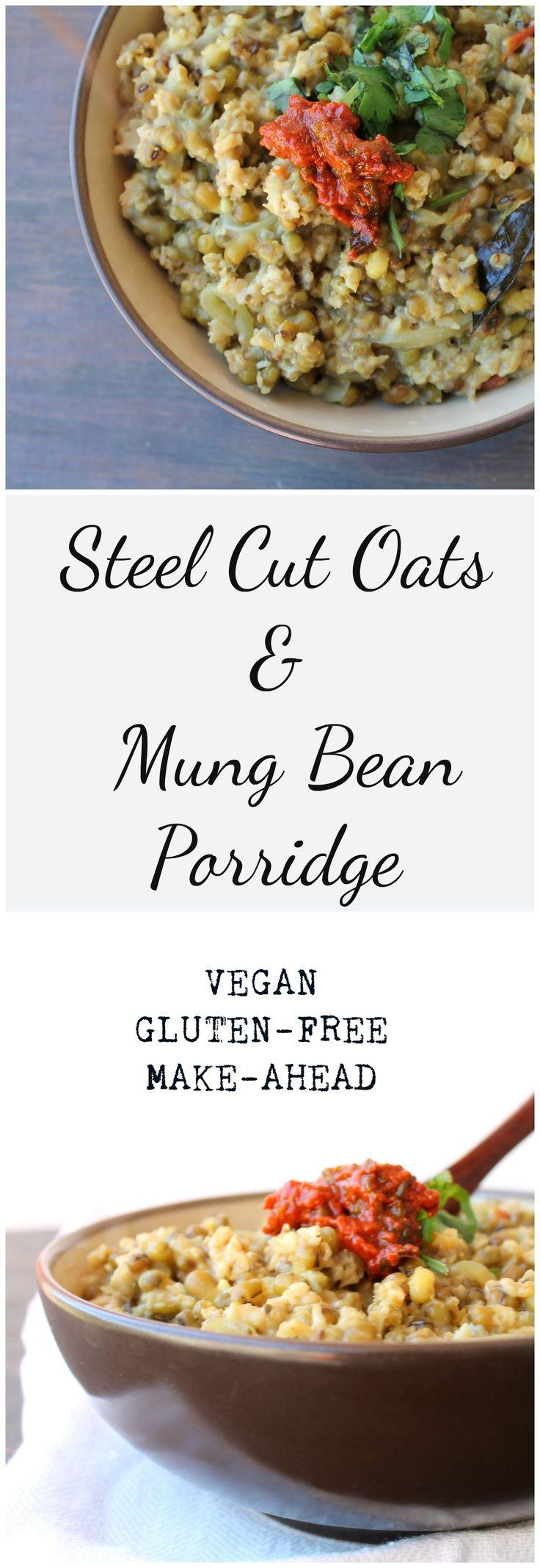 Steel Cut Oats & Mung Bean Porridge - Food, Pleasure, and Health