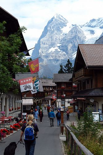 murren, switzerland.I really want to go to Switzerland!