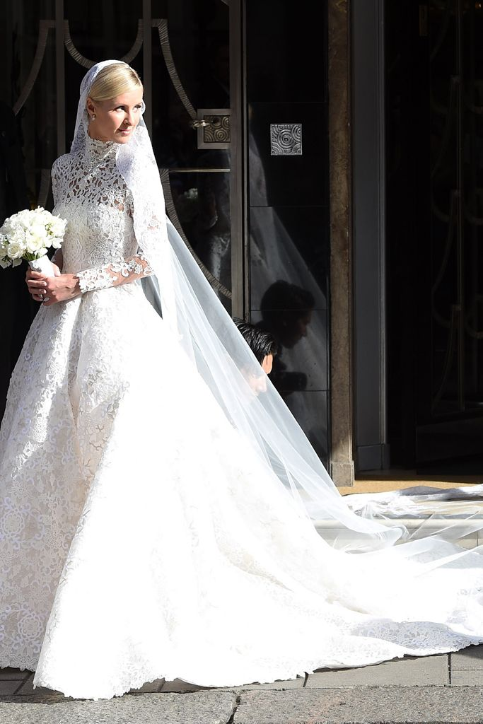 Nicky Hilton's custom Valentino wedding gown. [Photo: Neil Warner/Splash News/Corbis]