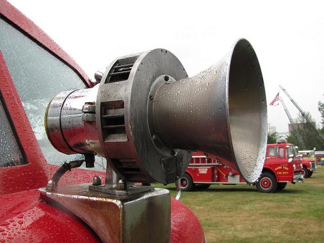 An old B&M CS8 fire truck siren