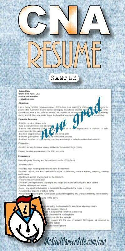 23 best cna prep images on pinterest cna skills test college sample resume for cna entry level sample cna resume resume cv cover letter new cna resume resume fandeluxe Gallery