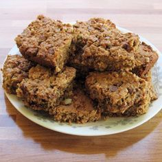 """Oatmeal Chocolate Chip Bars (gluten-free dairy-free) -- lactation """"cookies"""" good for nursing moms but enjoyed by everyone"""