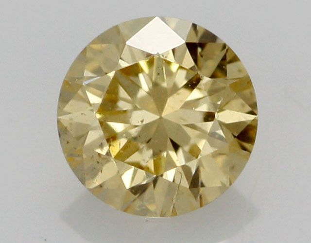 0.34 CTS FINE RUSSIAN YELLOW  DIAMOND I1  BR 0011 yellow diamond, Russian diamond