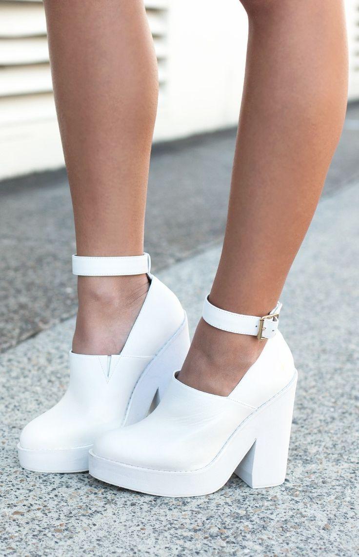 Windsor Smith Pop Heels White