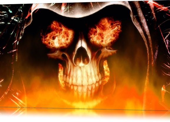 Fire Skull Animated Wallpapers Is A Theme For Your Operating System From Microso 4k In 2020 Skull Wallpaper Skull Fire Fire Art