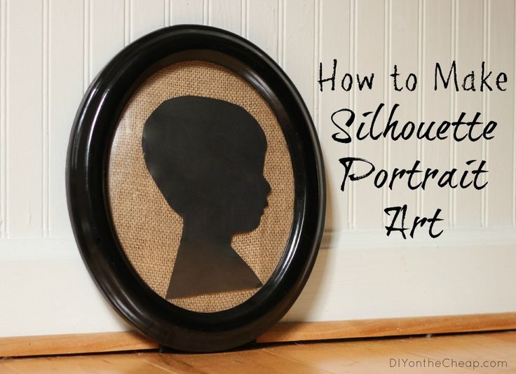 This is the easiest way I've seen to make your own silhouette portraits!