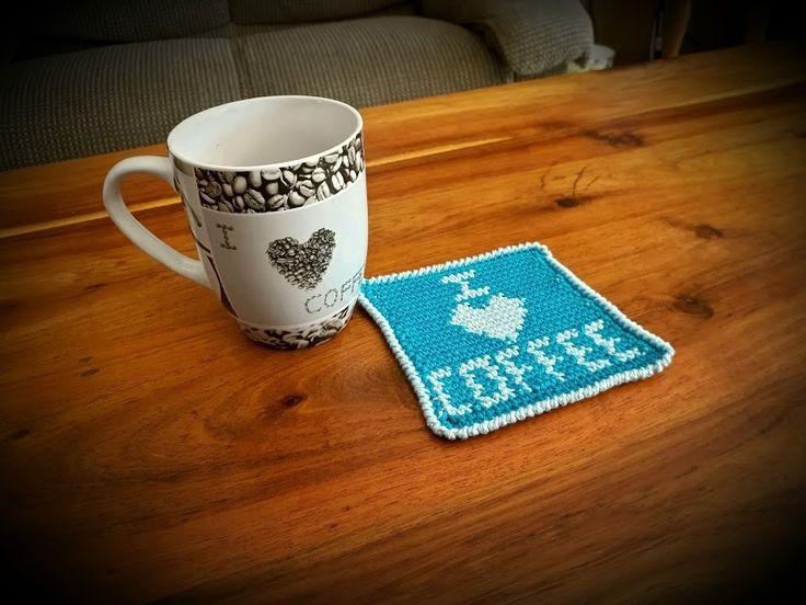 I Love Coffee Coaster – Crochet Creations