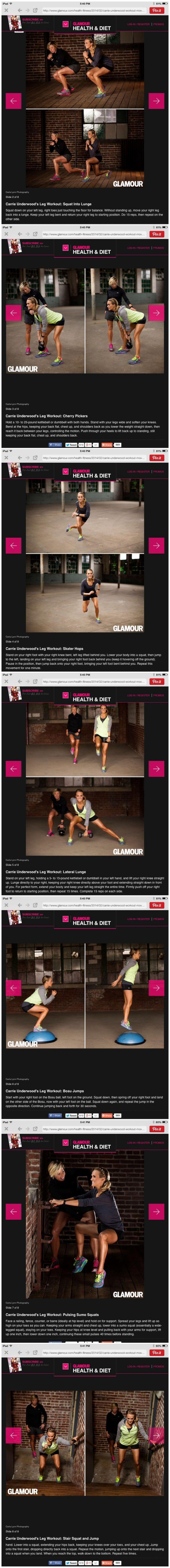 Carrie underwood leg workout!!