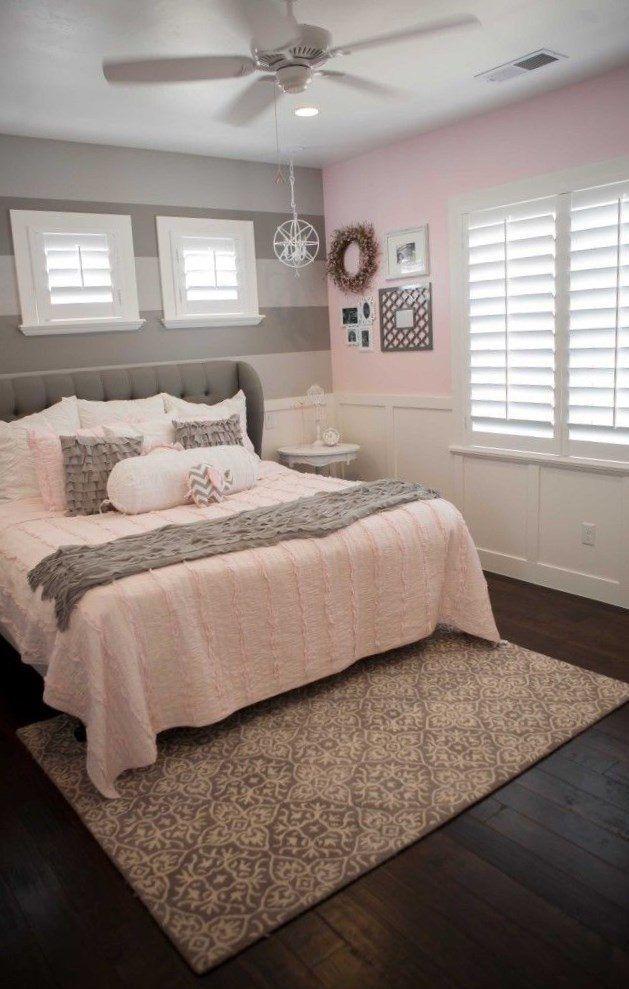 Stunning Gray White Pink Color Palette Gray Master Bedroom Bedroom Interior Bedroom Makeover