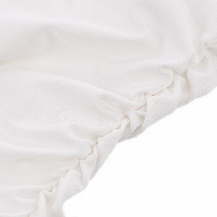 Vestito bianco paillettes linens