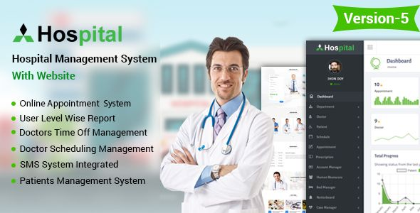 Hospital management system is a online patient management and Appointment , Scheduler application software for getting appointment very easily over internet. This Hospital management system application software is built upon PHP with Codeigniter Framework Hospital can take online patient appointment and patient can take doctor schedule from anywhere of the world.