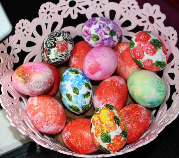 Vlog: Oua de Paste vopsite cu hartie creponata !!!Amazing Easter Eggs 20...