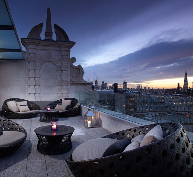 Radio Rooftop Bar and Restaurant, ME London, Westminster. Opening on March 1, Norman Foster's latest unveiling is the ME Hotel, a reincarnation of the BBC Marconi building near Somerset House