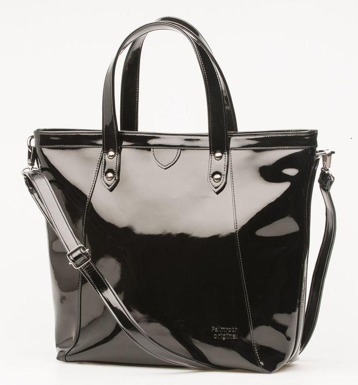 Palmroth black patent bag - laukku olkahihnalla musta lakeri - www.palmrothshop.com