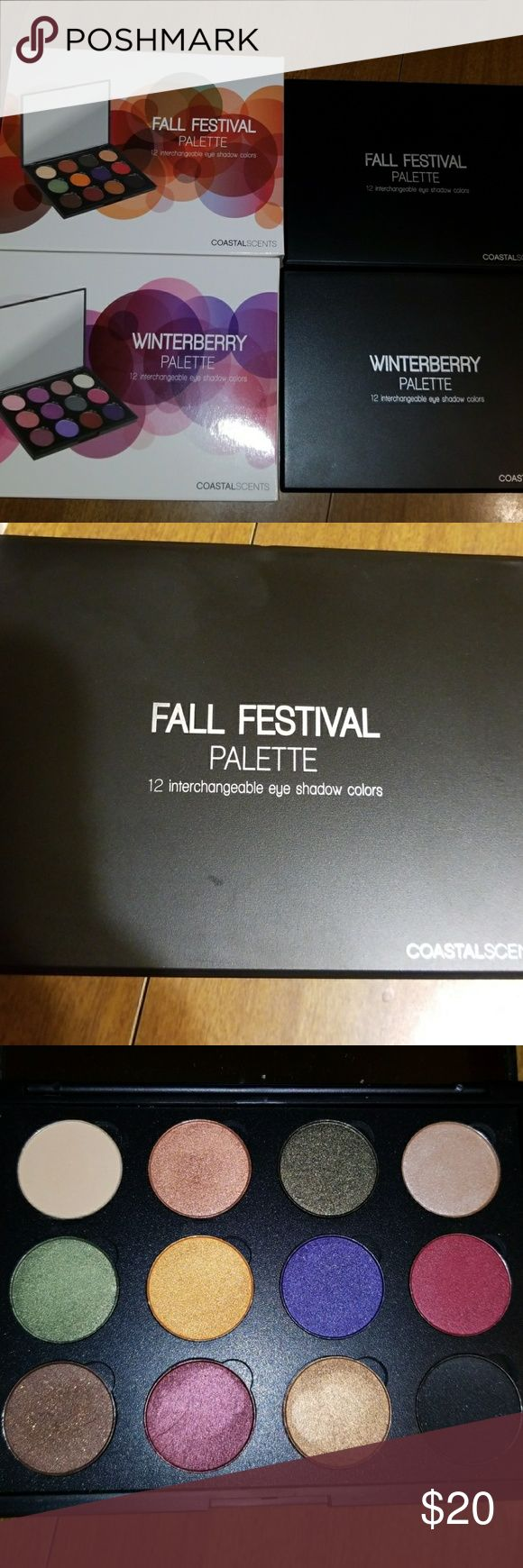 Coastal Scents Eyeshadow palettes Two palettes from coastal scents. The fall festival and winterberry 12 pan eyeshadow palettes. Only swatched both of these. Comes with mirrors inside the palettes and original boxes. coastal scents Makeup Eyeshadow