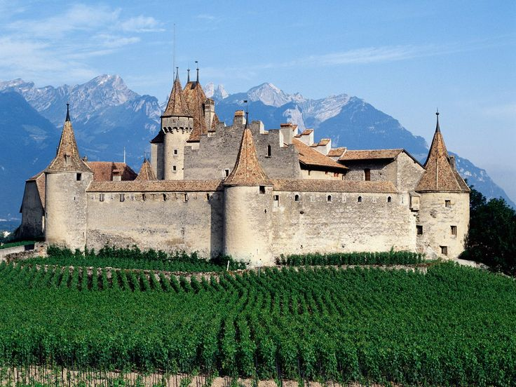 Chateau d'Aigle, Canton Vaud, Swizerland (The old family place for my ancestors, the Dupertuis family)