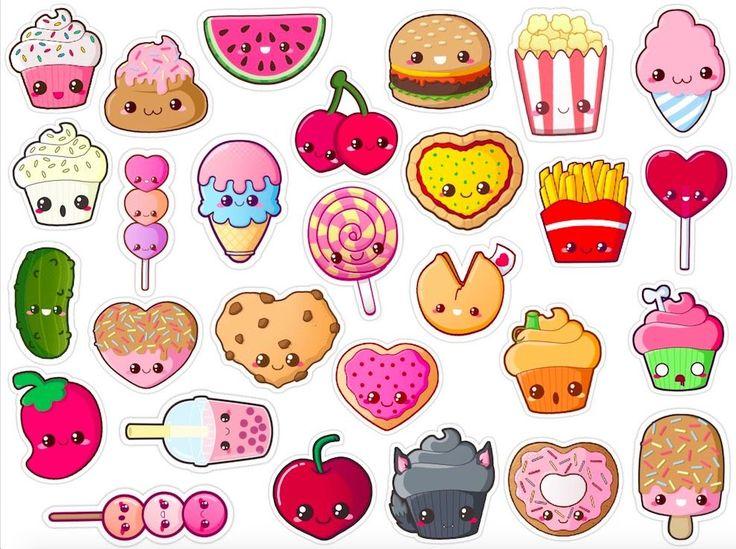 foto de kawaii food stickers pack of 28 0 jpeg (988×738) Diy
