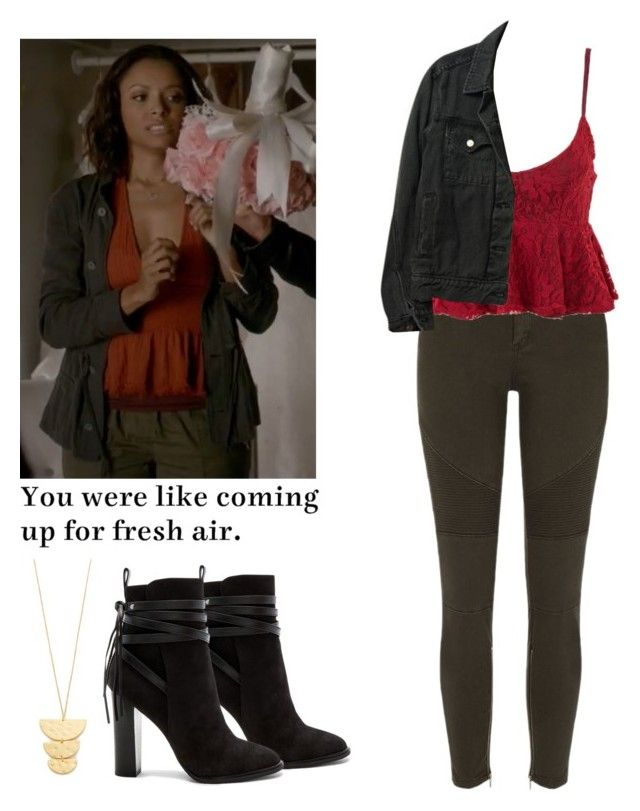 """""""Bonnie Bennett - tvd / the vampire diaries"""" by shadyannon ❤ liked on Polyvore featuring Gorjana, River Island, American Apparel, Steve Madden and Grey's Anatomy"""