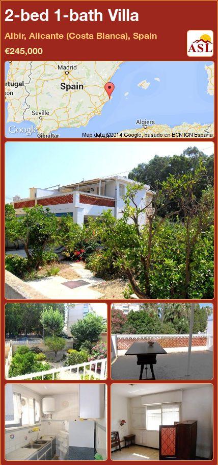 2-bed 1-bath Villa in Albir, Alicante (Costa Blanca), Spain ►€245,000 #PropertyForSaleInSpain
