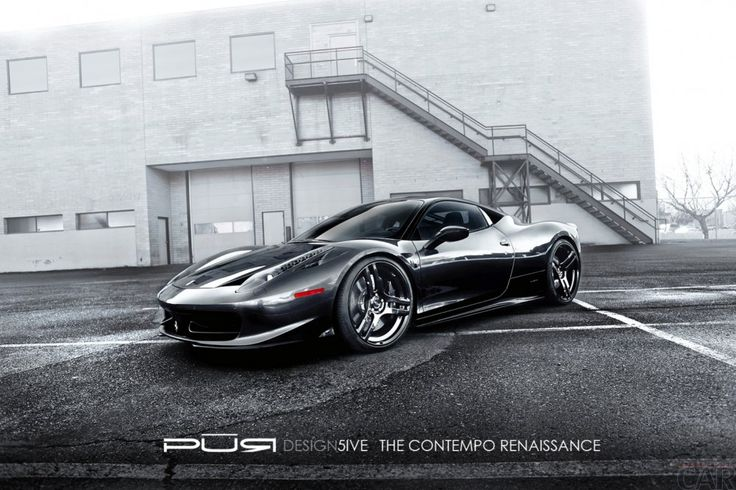 Fond d'écran avec un éminent accrocheurs voitures mignonnes Ferrari 458 Italia araignée