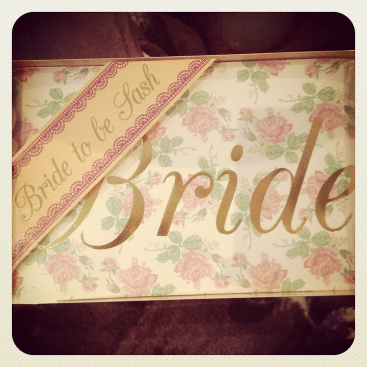 Wedding gift idea - beautiful bride to be sash for your Hen party