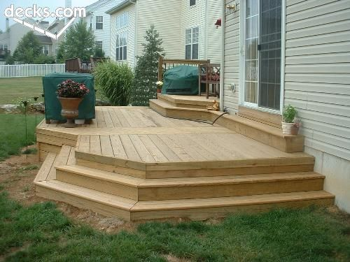 Low elevation deck picture gallery deck ideas in 2019 - Deck ideas for home ...