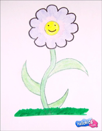 drawing lessons for kids kid drawings paint flowers a flower how to draw - Nice Pictures To Draw For Kids