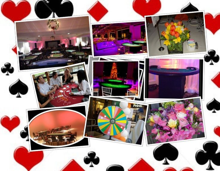 Casino Nights, Flower decor, blackjack, poker, texas holdem, prize wheel: Flowers Decor