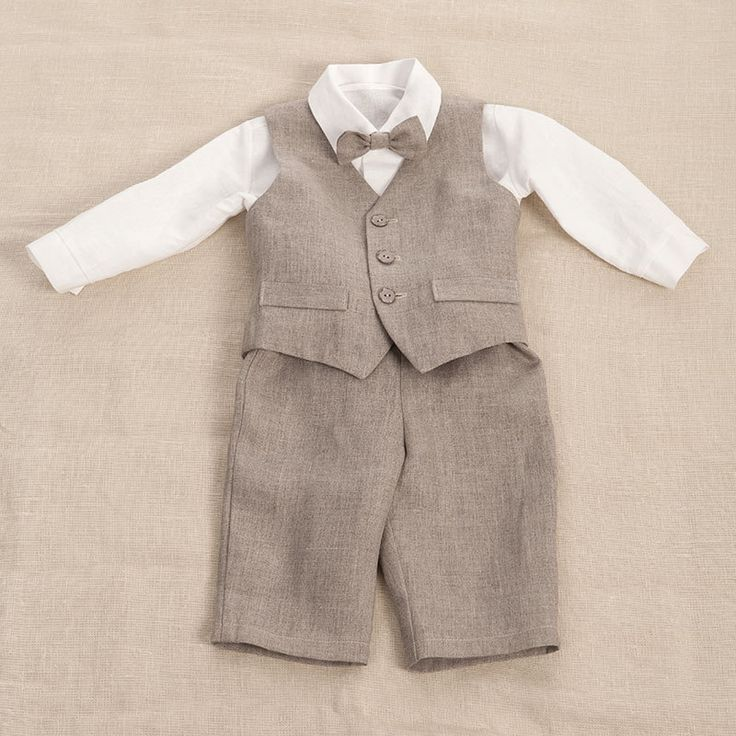 newborn boy linen clothing | Kids boy natural linen suit, baby boy clothes, baby boys party suit ...