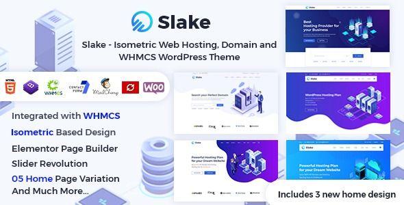 Slake Responsive Hosting And Whmcs Wordpress Theme Stylelib Web Hosting Wordpress Theme Slake