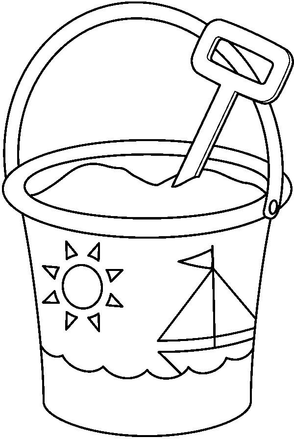 25 beste idee n over zomer emmer op pinterest for Sand bucket template