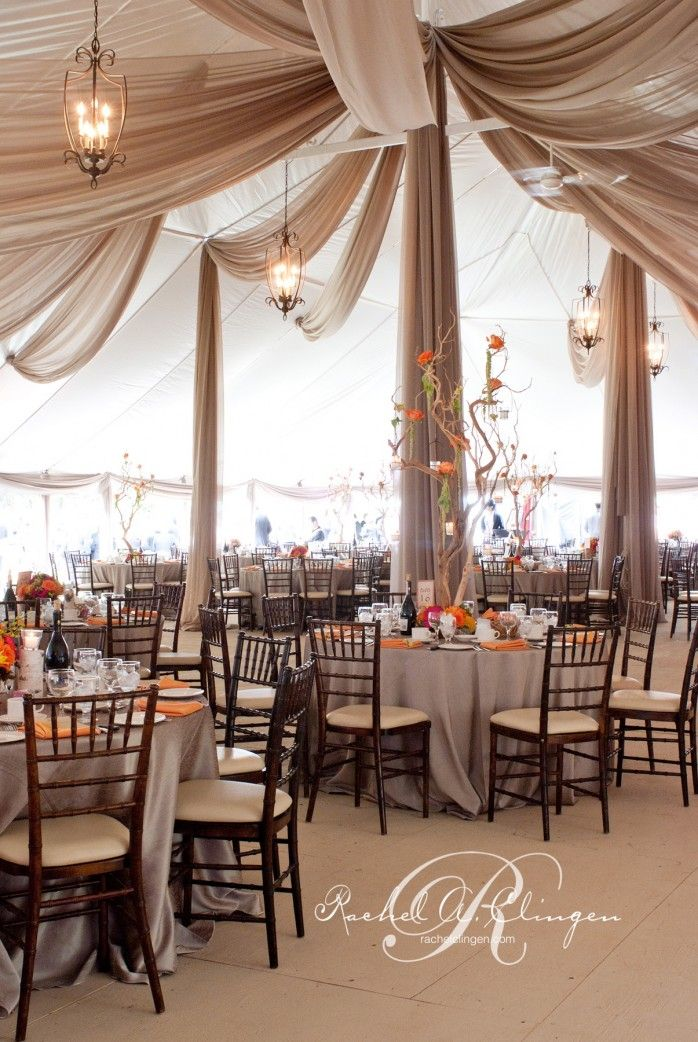 Love this ceiling treatment-Tent Weddings Draping Toronto