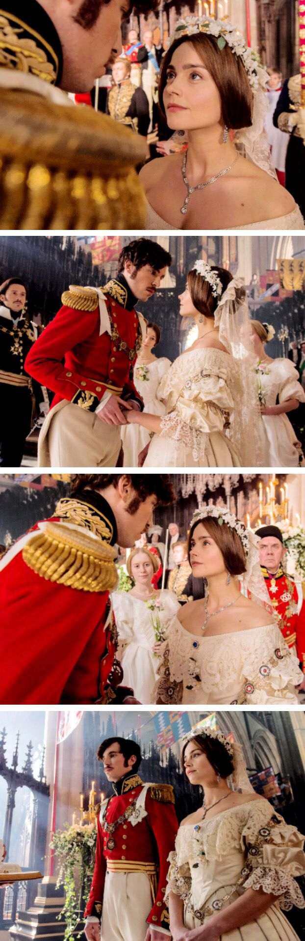 ITV's Victoria- Victoria and Albert's wedding - Jenna Coleman and Tom Hughes