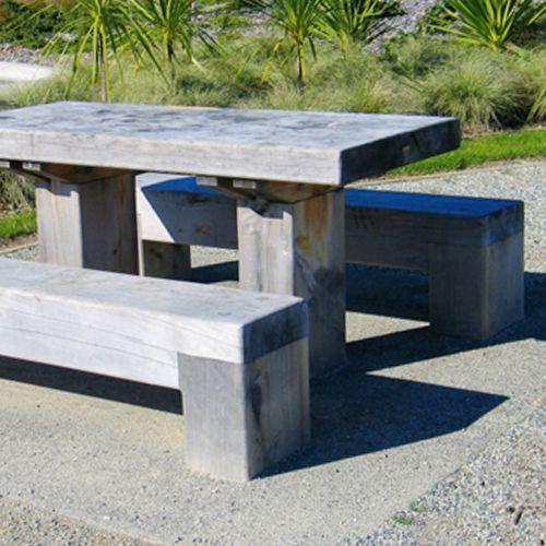 Macrocarpa Picnic Set » Street Furniture NZ