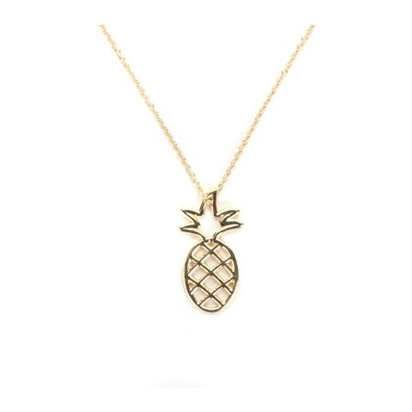 ALIITA 'Piña' Long Necklace ($282) ❤ liked on Polyvore featuring jewelry, necklaces, gold, long gold necklace, gold jewelry, gold pineapple charm, long charm necklace and pineapple necklace