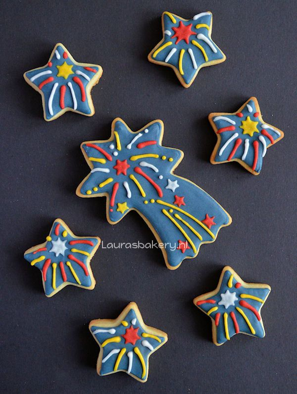 firework cookies how to for new year's eve