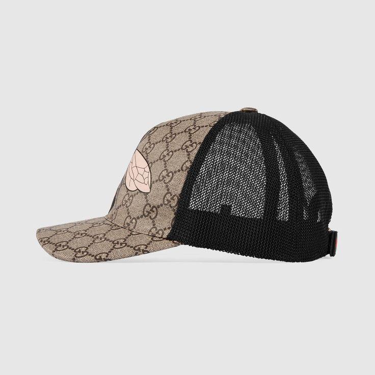 GUCCI Bee print GG Supreme baseball hat - bee print. #gucci #